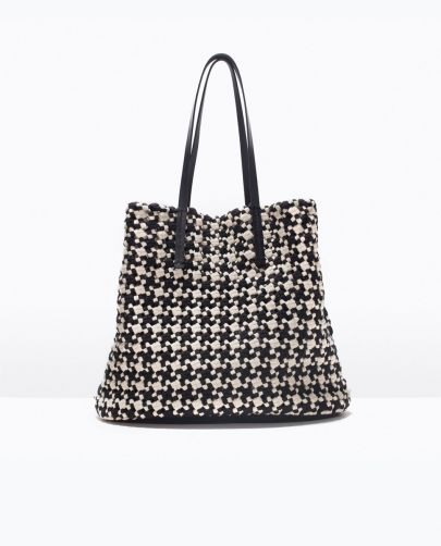 Woven fabric shopper, fashion